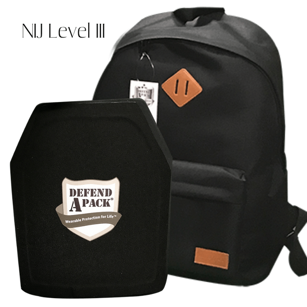 DefendApackGear.com Bulletproof Armored Protection Products One Size / III Bulletproof Stand-Alone Backpack NIJ LEVEL 3A or LEVEL 3 Bulletproof Protection