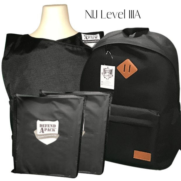 DefendApackGear.com Bulletproof Armored Protection ProductsBackpack Vest Combo Small / IIIA Bulletproof Backpack and Vest Combo Pack NIJ LEVEL 3A (Handgun Tested) Bulletproof Protection