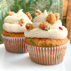 Birthday Cake Crumble Cupcakes