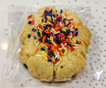 Butter Rainbow Sprinkle Cookies - Large