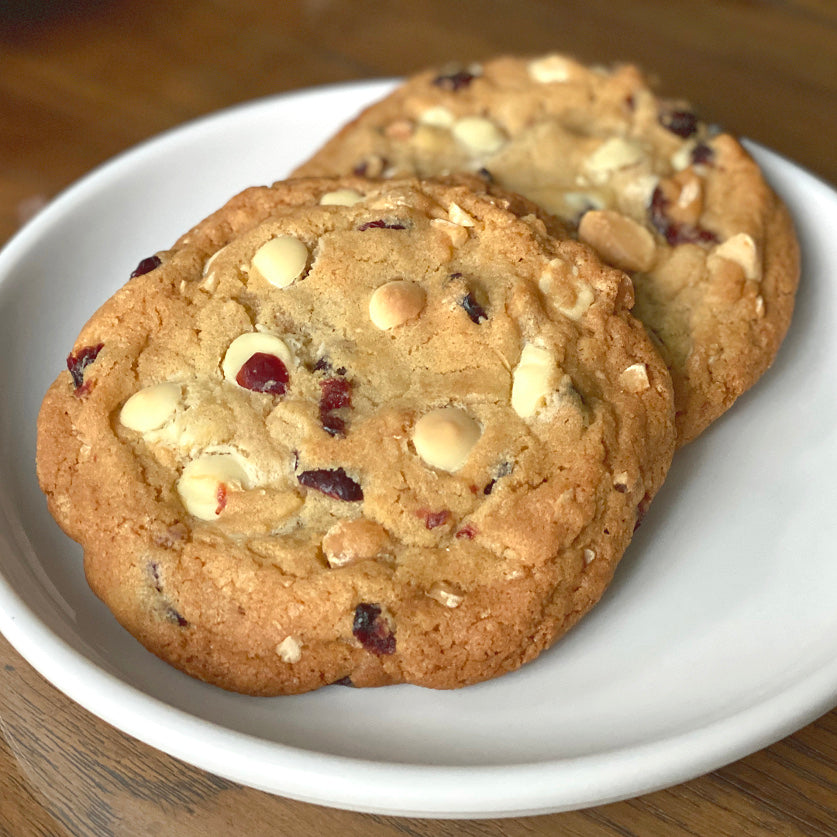 White Chocolate Cranberry Macadamia Nut Cookies - Large