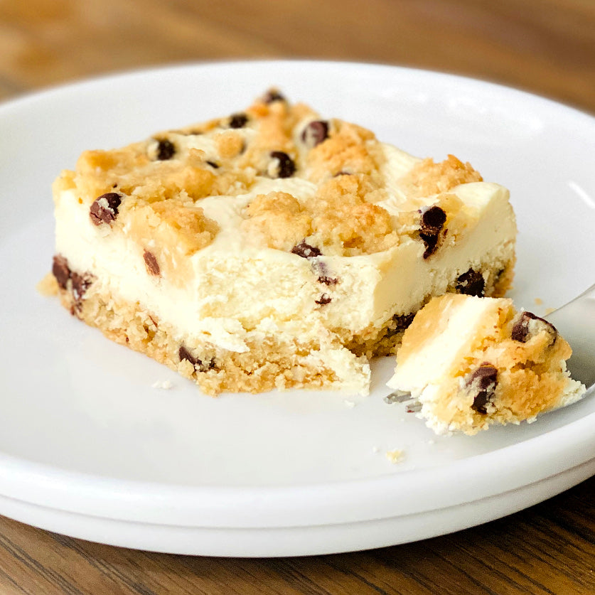Chocolate Chip Cheesecake Bars - Sugar Free & Keto Friendly