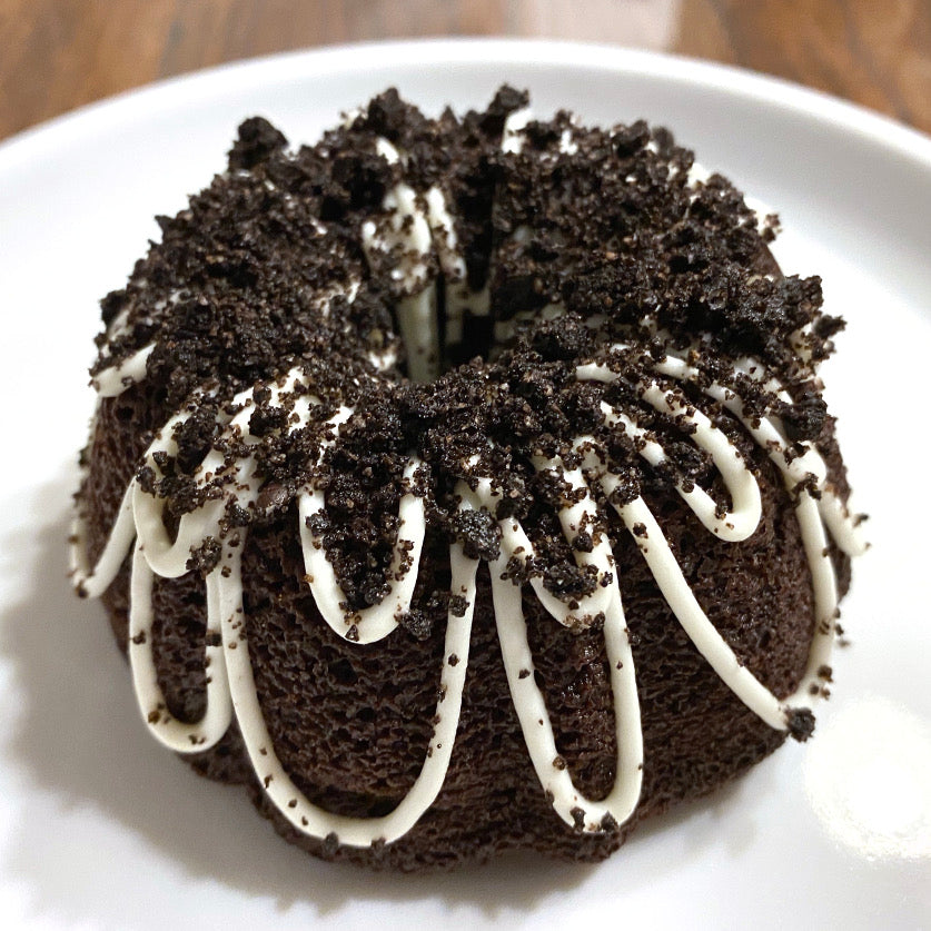 Chocolate Oreo Crumble Bundt Cake - Sugar Free & Keto Friendly