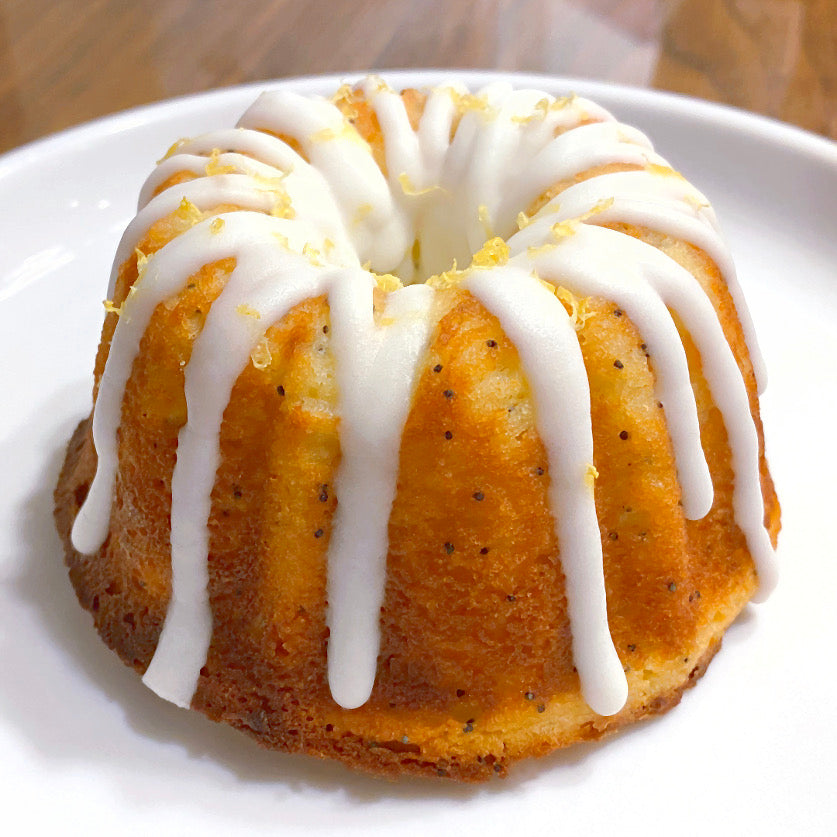 Lemon Poppy Seed Pound Cake<br>Sugar Free & Keto Friendly<br>