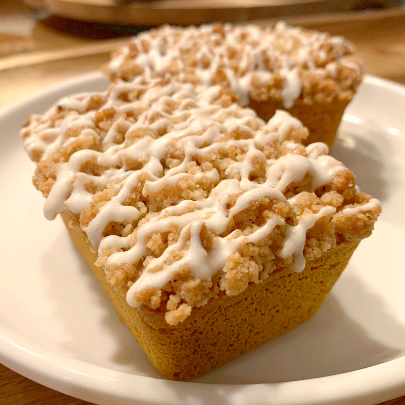 Pumpkin Streusel Loaf w/ Maple Icing - Sugar Free & Keto Friendly
