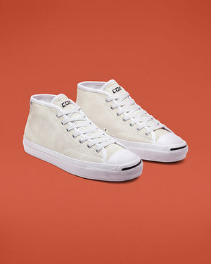 Converse Jack Purcell Mid - White/white