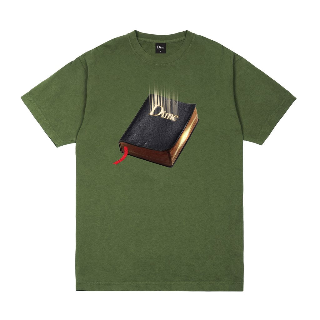 Dime Classic Book T-Shirt- (Olive)