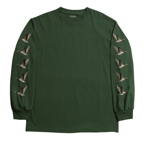 Grand Collection Goose Long Sleeve - Forest Green