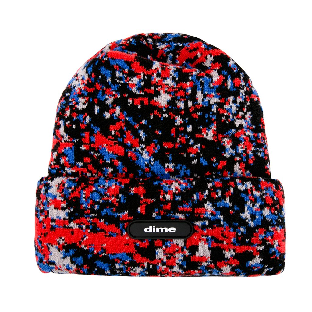 Dime Speckle Beanie- (Red)