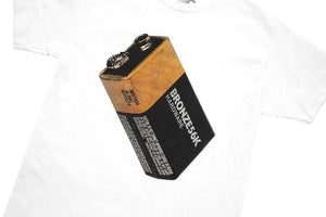 Bronze 56k Battery Tee White