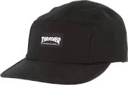 Thrasher Mag Logo 5 Panel Hat Black