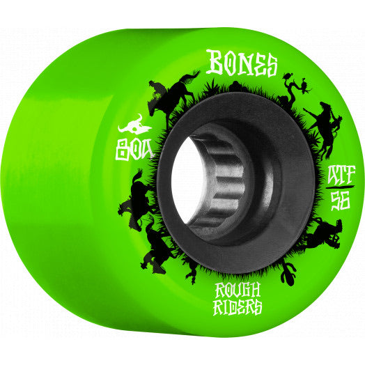 Bones Rough Riders Wranglers 80A ATF 56mm Green Wheels