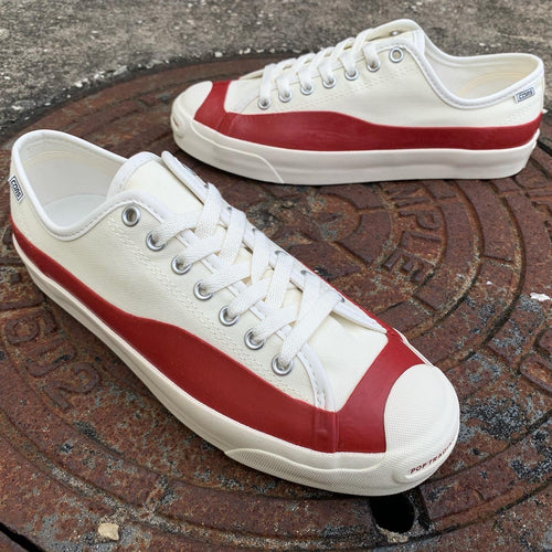 Converse X POP Trading Co Jack Purcell Egret/Red Dahliave