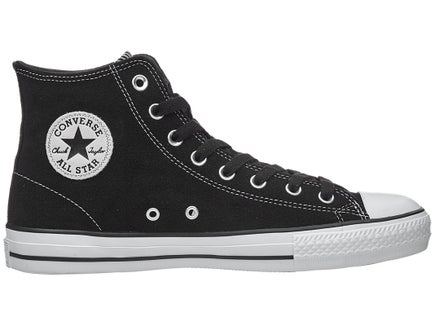 Converse CTAS Pro Hi Shoes - (Black/Black/White Suede)
