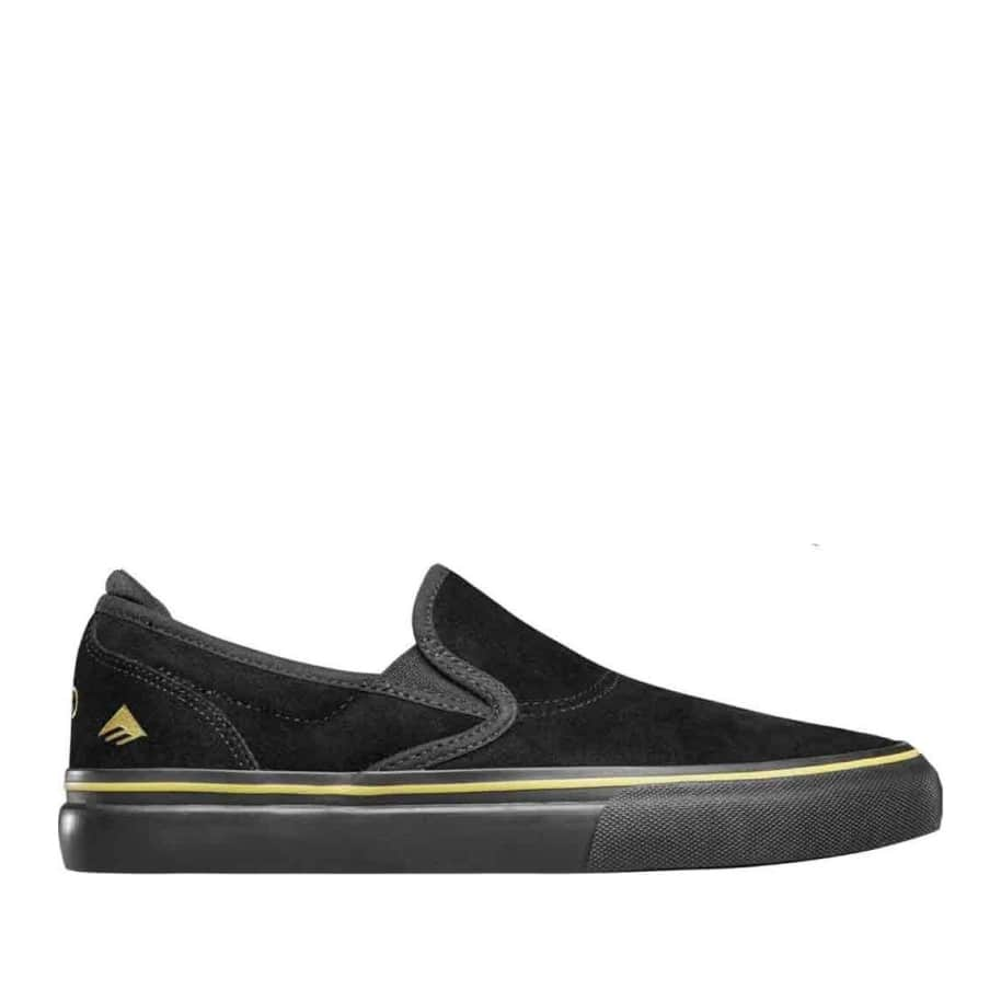 Emerica Stay Gold Wino G6 Slip On - (Black/Gold)