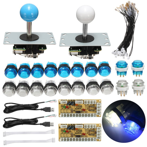Kit 2 joystick arcade LED bouton poussoir - Arcade Boz