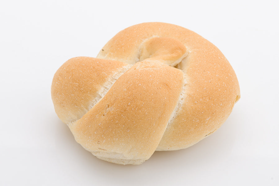 White Bread Rolls - knotted