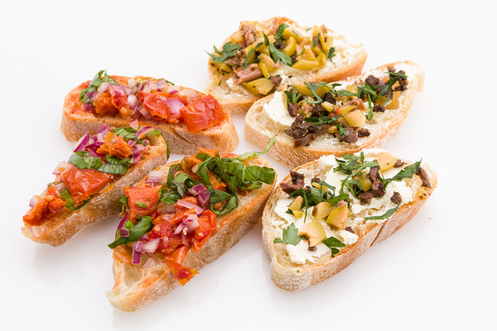 Bruschetta (minimum order of 20 mixed)