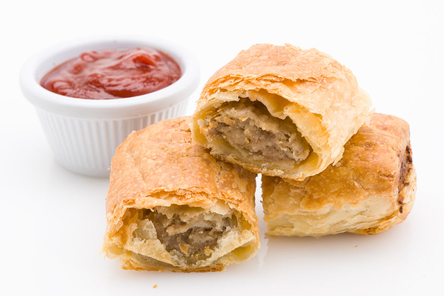 Sausage rolls (cut in 3 pieces)