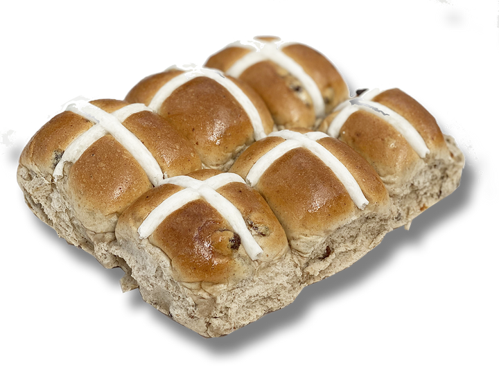 Hot Cross Buns - With Fruit - 6 Pack