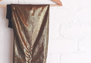 Josephine Wired Head Wrap - Extra Length - Antique Gold