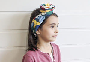 The Mini - Josephine Wired Head Wrap - Floral Kuma