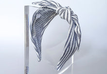 Mathilde Side Knot Headband - Regular - B&W Stripes