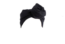 Josephine Head Wrap - Black Twisted Yarn Linen