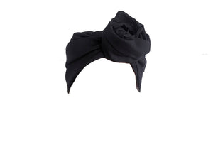 Josephine Head Wrap - Black Linen