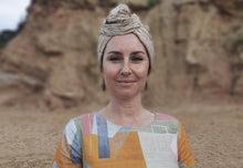 Josephine Wired Head Wrap - Naturally Gold - Long