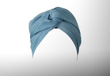 Josephine Wired Head Wrap - Sky Blue Linen - Extra Length