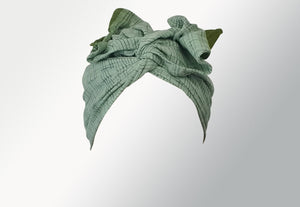 Josephine Head Wrap - Regular - Green Saree