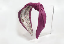 Mathilde Side Knot Headband - Regular - Dark Fuchsia