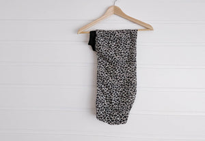 Josephine Head Wrap - Animal Print Muslin