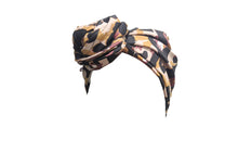 Josephine Head Wrap - Animal Print Sateen