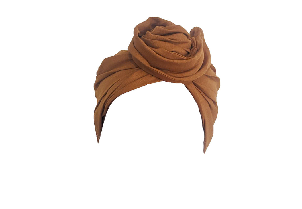 Josephine Head Wrap - Regular - Saffron Cotton Linen