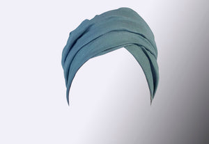 Josephine Wired Head Wrap - Duck Egg Monochrome