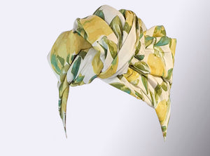 Josephine Wired Head Wrap - Lemons - Regular