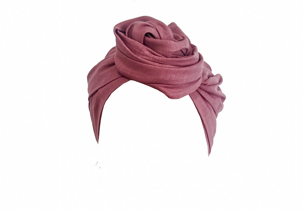 Josephine Head Wrap - Rose Pink Cotton Linen