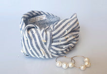 Thalassa Headband - Blue & White Stripes