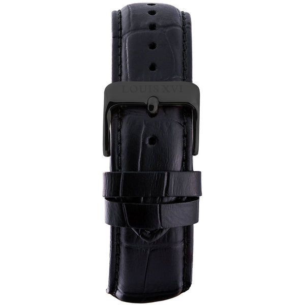 Leather strap - Black/Black