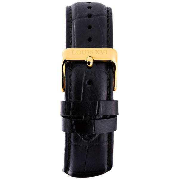 Leather strap - Black/Gold