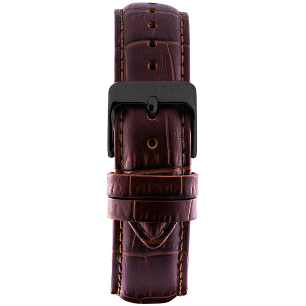 Leather strap - Brown/Black