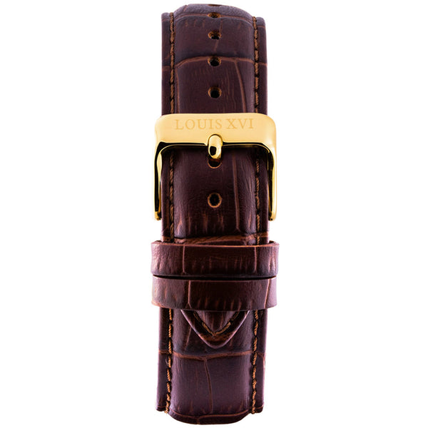 Leather strap - Brown/Gold