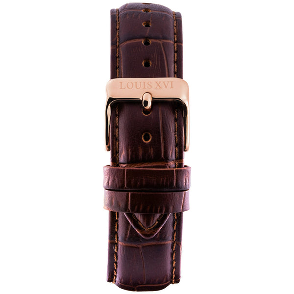 Leather strap - Brown/Rose gold
