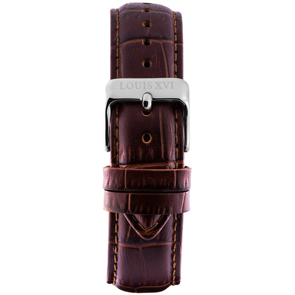 Leather strap - Brown/Silver