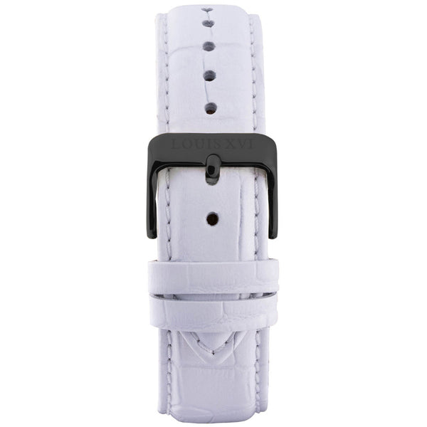Leather strap - White/Black