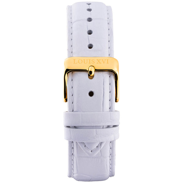 Leather strap - White/Gold