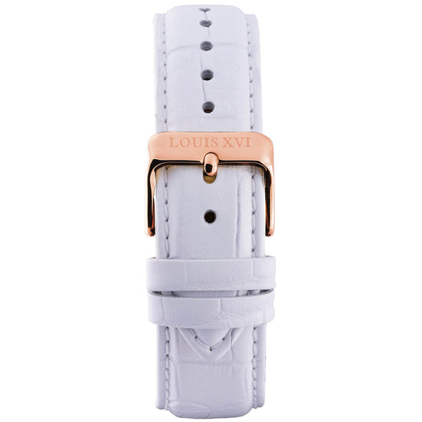 Leather strap - White/Rose gold