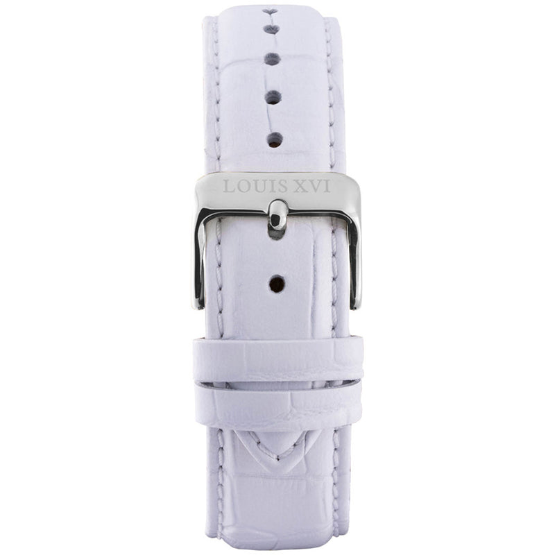 Leather strap - White/Silver